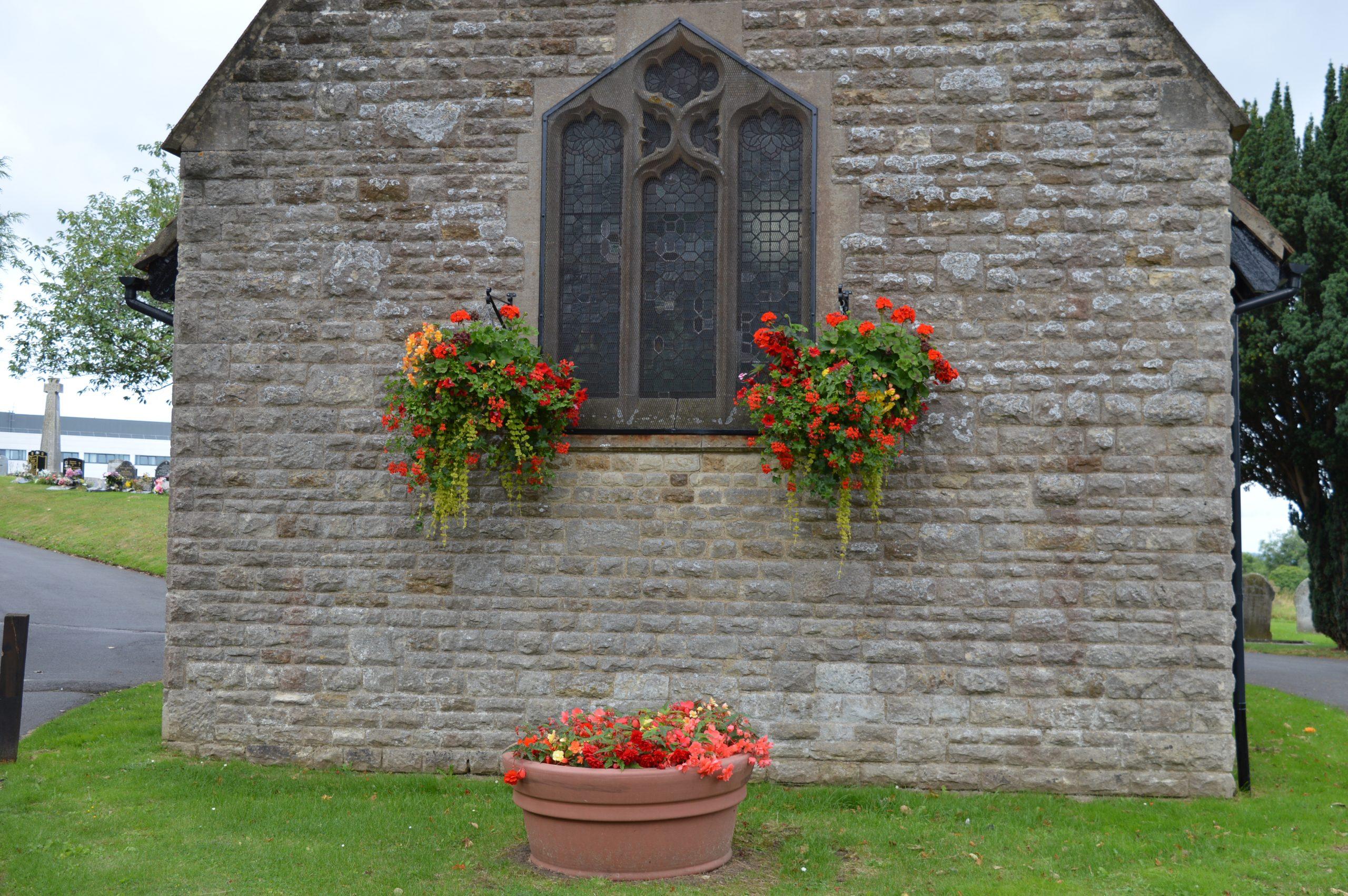 Colourful church planters