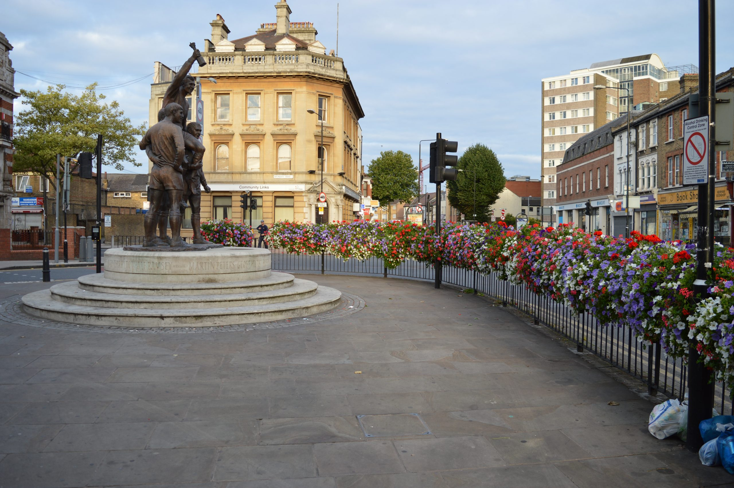 Plant barriers to add colour to town centres